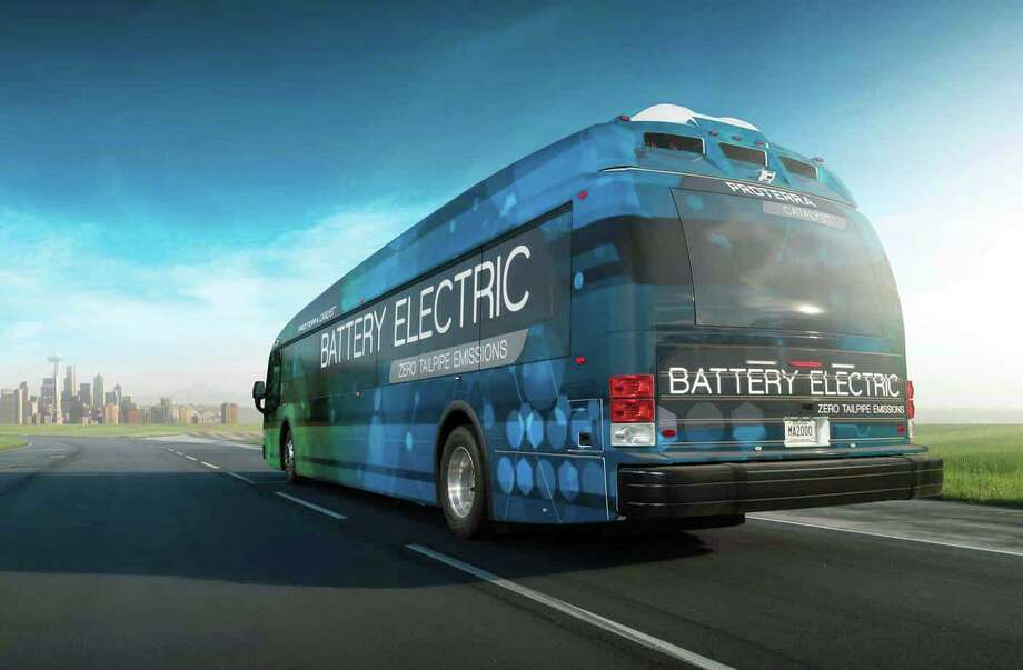 Greater Bridgeport Transit will introduce new 40-foot electric buses built by Proterra. Photo: Proterra / Contributed