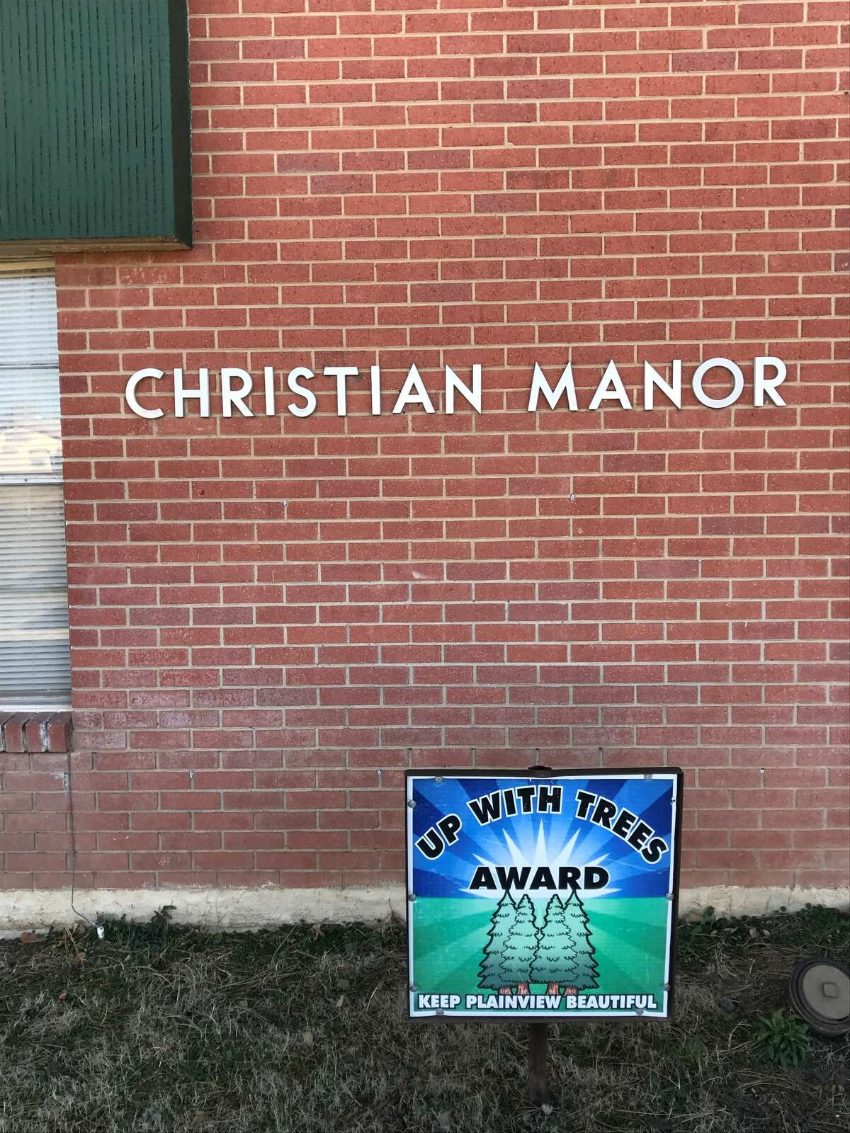 Christian Manor Apartments was recognized with the Up With Trees Award.