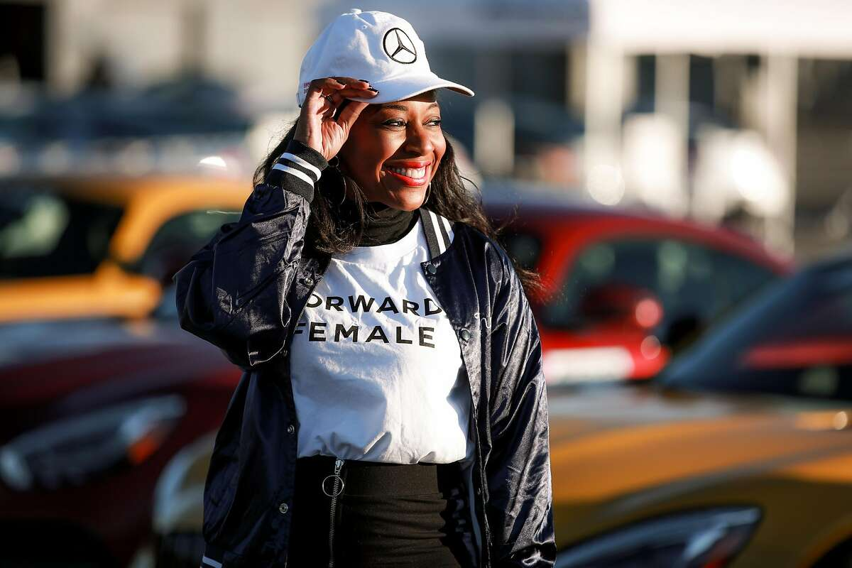 Kinya Claiborne attends the Glamour and Mercedes-Benz AMG Driving Academy Experience at Laguna Seca at WeatherTech Raceway Laguna Seca on Oct. 3, 2019 in Salinas, California.