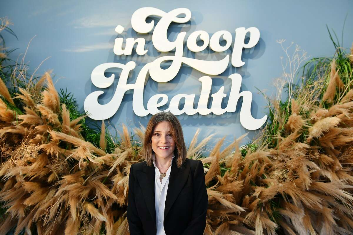 Marianne Williamson, who just dropped out of the presidential race, attending the In goop Health Summit San Francisco 2019 at Craneway Pavilion on November 16, 2019 in Richmond, California.