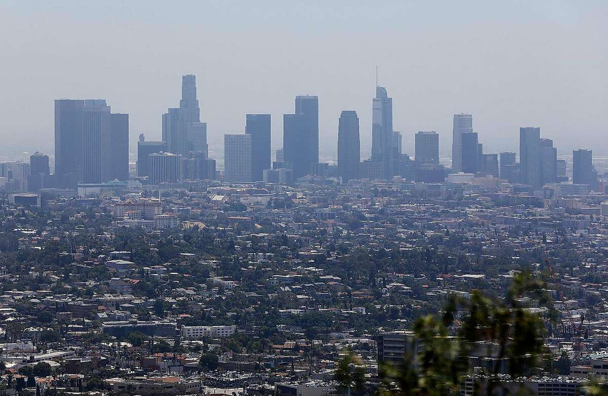 The downtown Los Angeles, Calif. skyline is seen from Griffith Observatory on Monday, July 1, 2019. In a letter to Mary Nichols, chairwoman of the California Air Resources Board, obtained by McClatchy, the EPA said the two sides