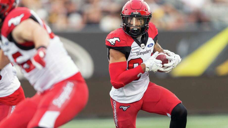 Former Calgary Stampeaders receiver Reggie Begelton. Photo courtesy of the Canadian Football League. Photo: Geoff Robins