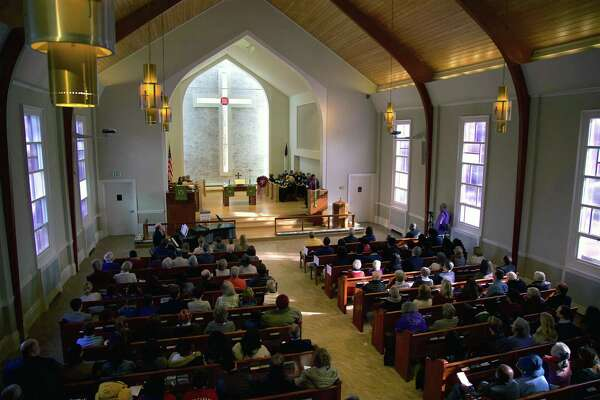The sanctuary was full at the 17th annual Interfaith Service for Martin Luther King, Jr., at United Methodist Church, Monday, Jan. 21, 2019, in New Canaan, Conn. The 18th annual Interfaith Service will take place Monday, Jan. 20, 2020.