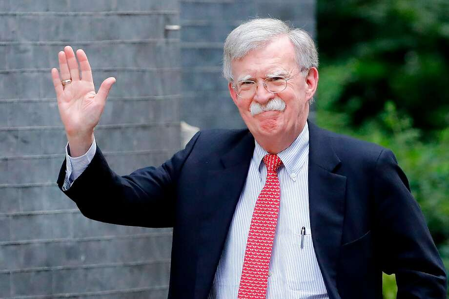 (FILES) In this file photo taken on August 13, 2019 US National Security Advisor John Bolton arrives in Downing Street in London ahead of his meeting with Britain's Chancellor of the Exchequer Sajid Javid. - Former White House national security advisor John Bolton said on January 6, 2020 that he is willing to testify if subpoenaed in the Senate impeachment trial of President Donald Trump. (Photo by Tolga AKMEN / AFP) (Photo by TOLGA AKMEN/AFP via Getty Images) Photo: Tolga Akmen, AFP Via Getty Images