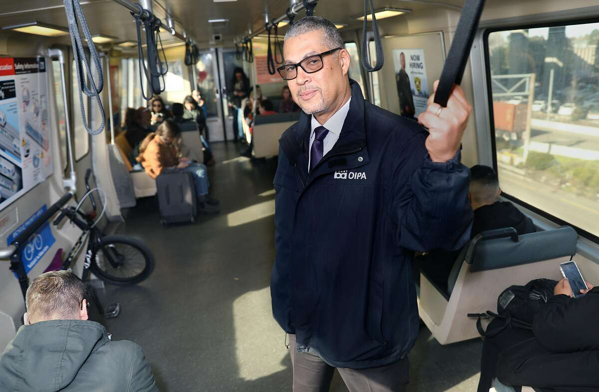 BART's independent police inspector general Russell Bloom on a Bart train taken from Broadway on Monday, Jan. 6, 2020, in Oakland, Calif.