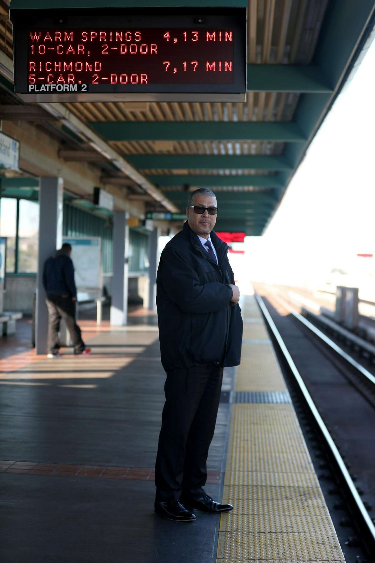 BART's independent police inspector general Russell Bloom waits for the Richmond bart train in Oakland on Monday, Jan. 6, 2020, in Oakland, Calif.