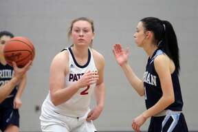 The USA Patriots girls basketball team defended home court in Monday's 33-25 victory over Sanford Meridian on Monday, Jan. 6.