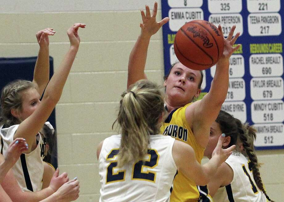The Bad Axe girls basketball team topped visiting North Huron, 54-25, on Monday, Jan. 6, 2020. Photo: Mark Birdsall/Huron Daily Tribune