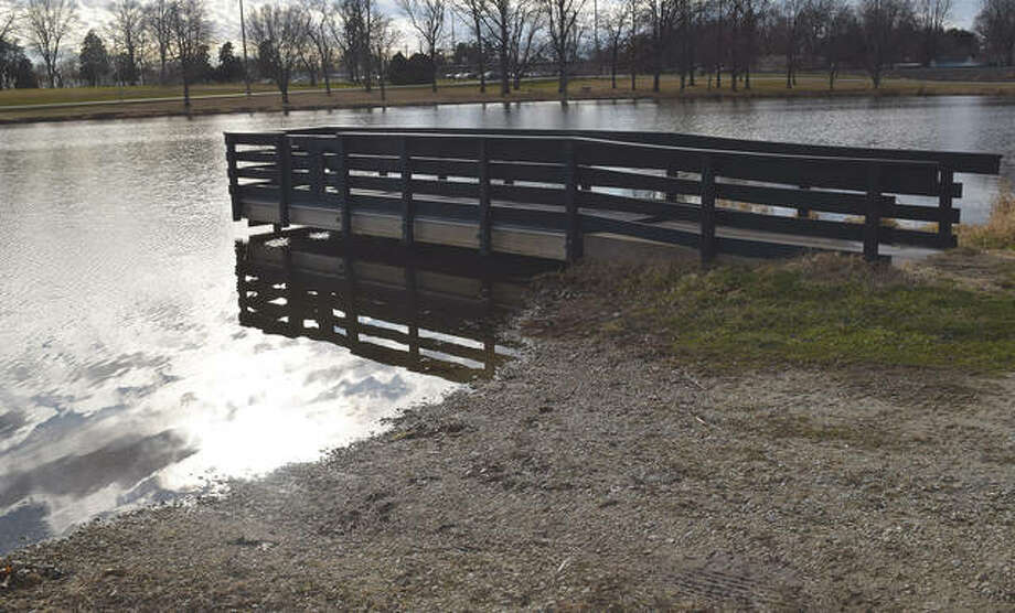 The Lake Mauvaisterre boat ramp and dock will see construction after the city received a grant to renovate the area. Photo: Marco Cartolano | Journal-Courier