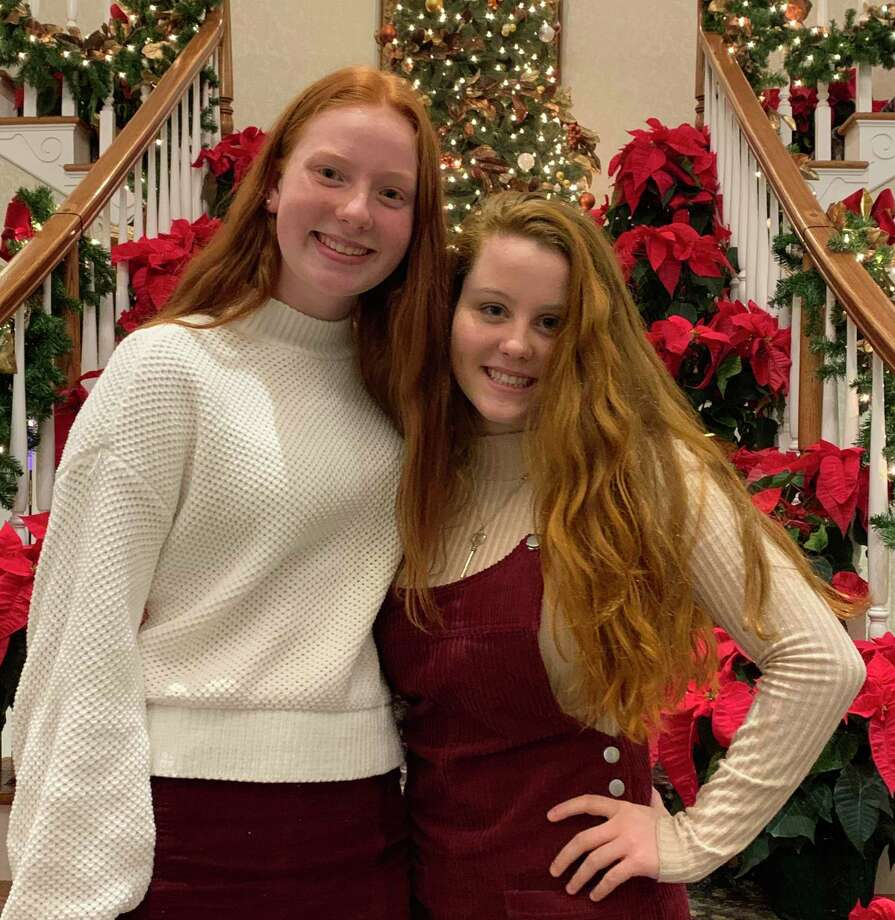 Claire Kehley and Caroline Begg received All-State swim and honors. Photo: Contributed Photo / Lauralton Hall Athletics / Trumbull Times