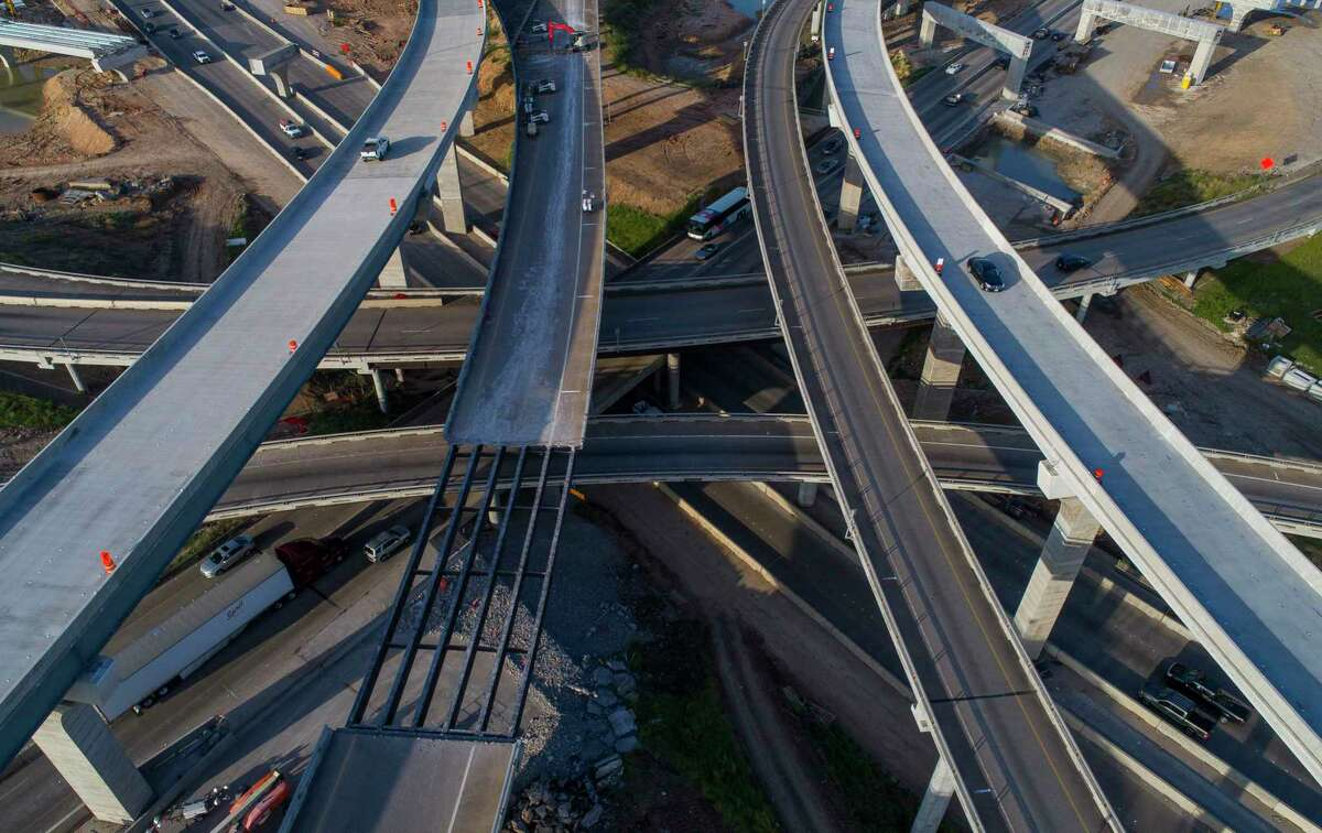 The Houston Chapter of the American Society of Highway Engineers Construction will hold an awards banquet Thursday. An aerial photo shows construction at the Texas 288 and the 610 Loop interchange south of downtown Houston in August of 2018.