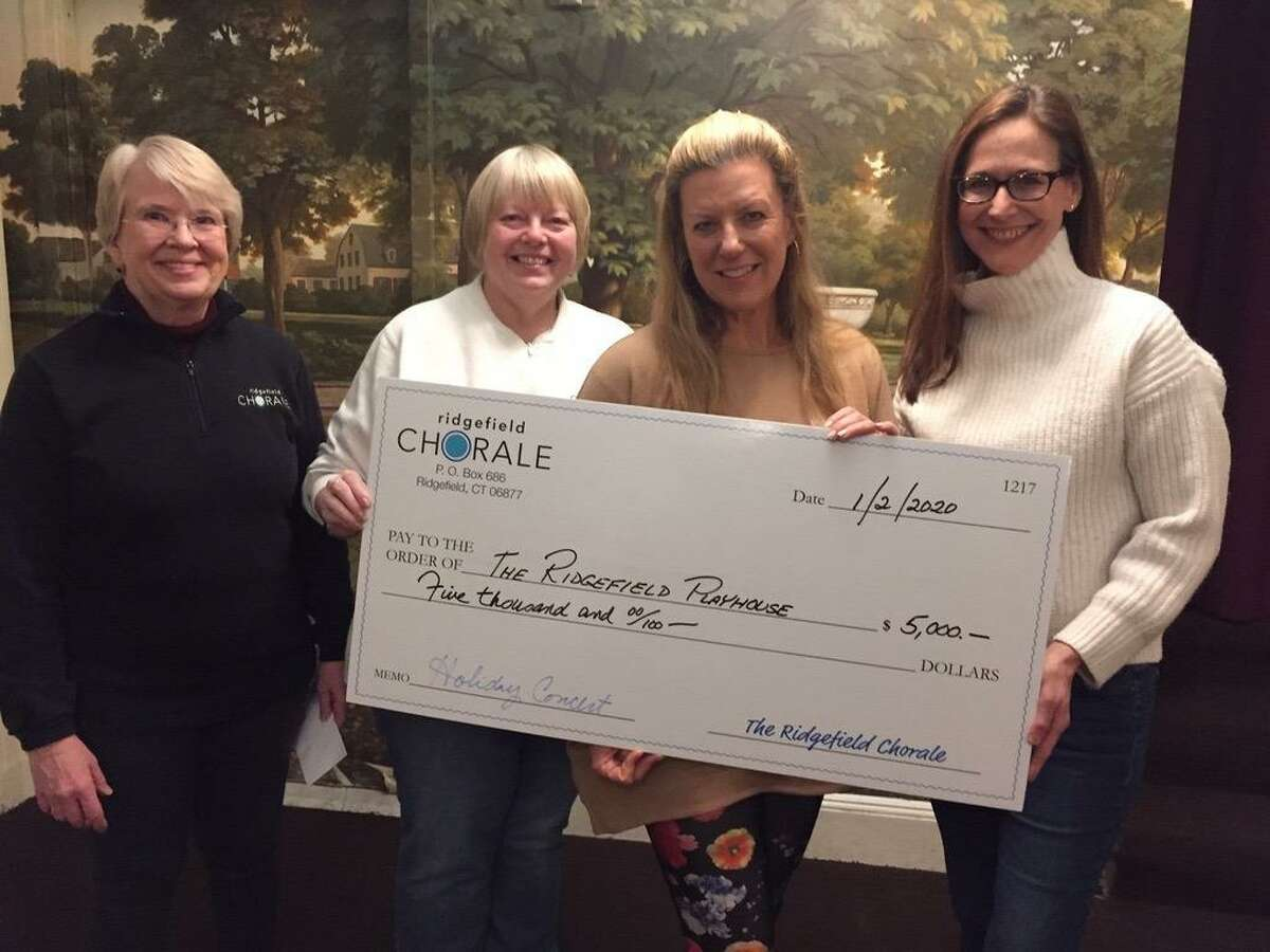 From left to right; Amy Day and Daniela Sikora of the Ridgefield Chorale and Allison Stockel and Jane Lindenburg of the Ridgefield Playhouse.