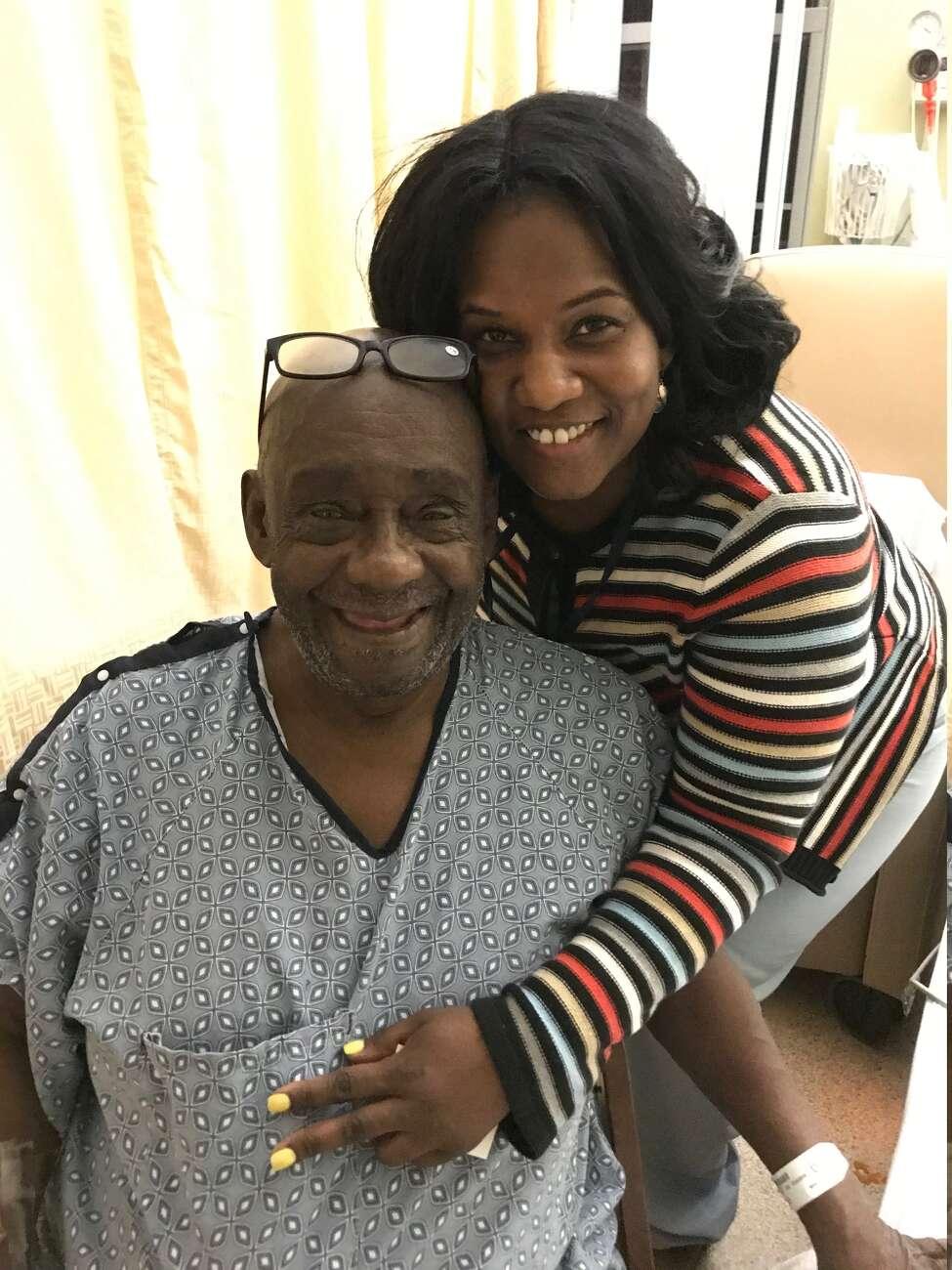 Leon Van Dyke and his niece, Monifa Johnson, a nurse at Albany Medical Center Hospital.