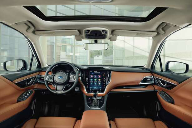 The 2020 Subaru Legacy features an 11.6-inch touchscreen controlling audio, heat, cooling and other systems.