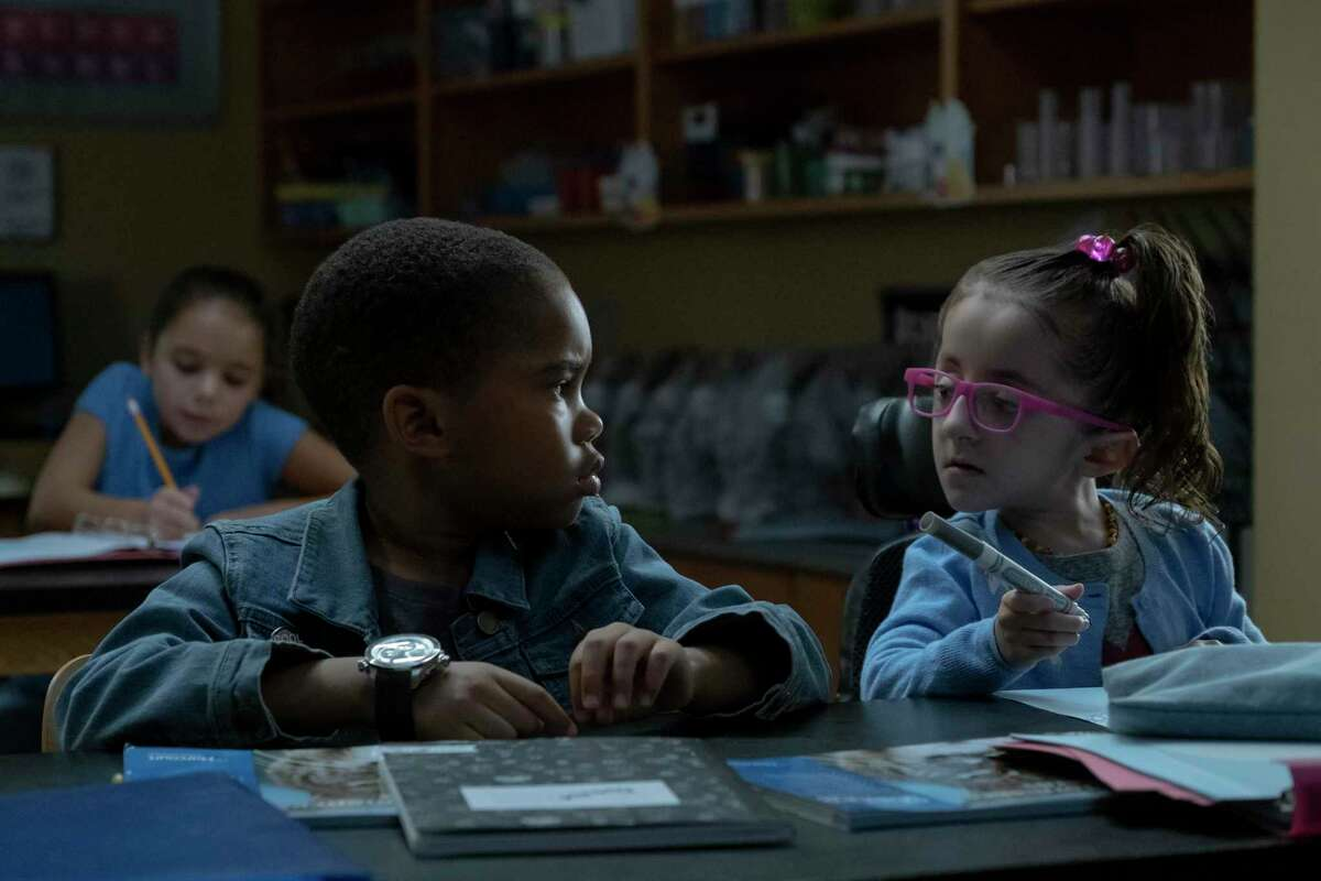 San Antonio native Sammi Haney with newcomer Ja'Siah Young in a scene from the 2019 Netflix sci-fi series, 'Raising Dion.' Haney and Young will return for a second season of the show, which goes into production this year.