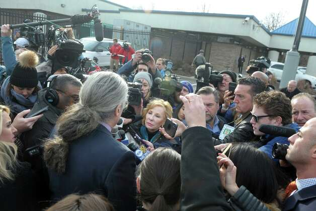 """Norm Pattis, attorney for Fotis Dulos, speaks to media gathered outside State Police Troop G in Bridgeport, Conn. Jan. 7, 2020. According to arrest warrants, Fotis Dulos was """"lying in wait"""" when his estranged wife returned from dropping off their children at school. Police said Jennifer Dulos was the victim of a """"serious physical assault."""" Around the time Jennifer Dulos was reported missing that night, police said Hartford surveillance cameras captured two people resembling Fotis Dulos and his former girlfriend Michelle Troconis making a series of stops along Albany Avenue. The man was seen dumping trash bags and a license plate that was later discovered to be registered to Fotis Dulos, according to arrest warrants. The bags contained Jennifer Dulos' blood and clothing, the arrest warrants state. Photo: Ned Gerard / Hearst Connecticut Media / Connecticut Post"""
