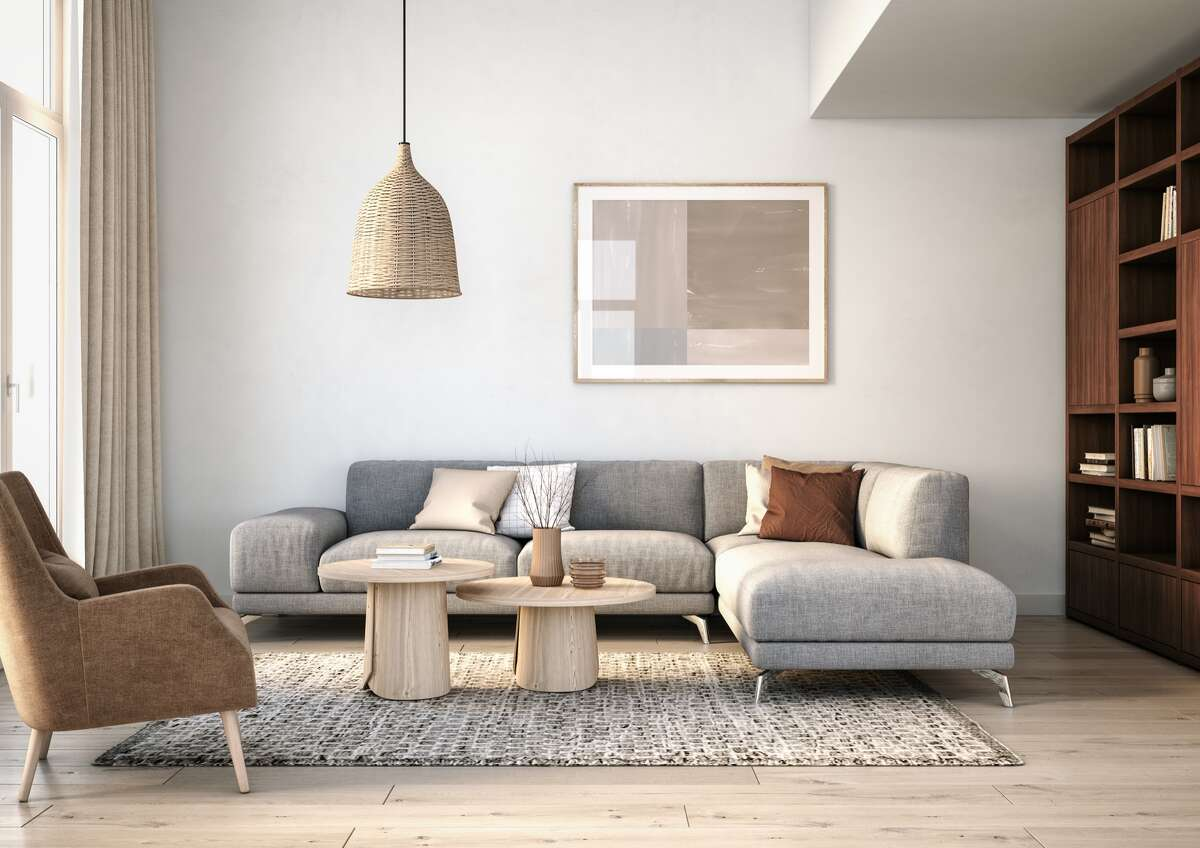 Is this Scandinavian-style living room a good or bad design choice for 2020? Here's what interior designers from firms such as Modsy, Wayfair, Hygge & West and Hudson Valley Lighting Group say are the top trends for this year and beyond, as well as those that have run their course and should be avoided. (Continue through slide show.)