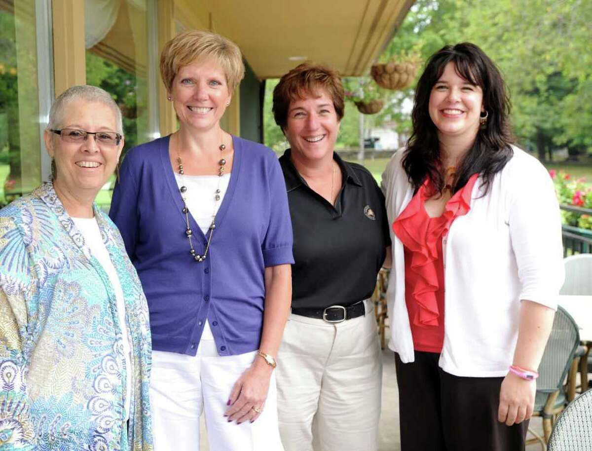 From left to right, Sandy Moy, business manager of Tarrywile Park & Mansion; Deborah Pacific, director of the Parking Authority; Maria Sanyshyn, general manager of Richter Memorial Park; and Bridgid Guertin, executive director of The Danbury Museum & Historical Society, are among the