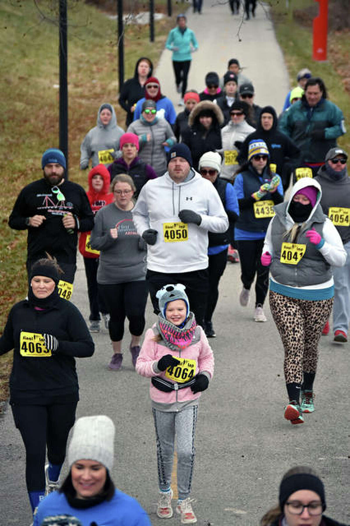 Runners compete in the New Year, New You 5K at SIUE on Saturday. The event was hosted by the Hearst Media Group.
