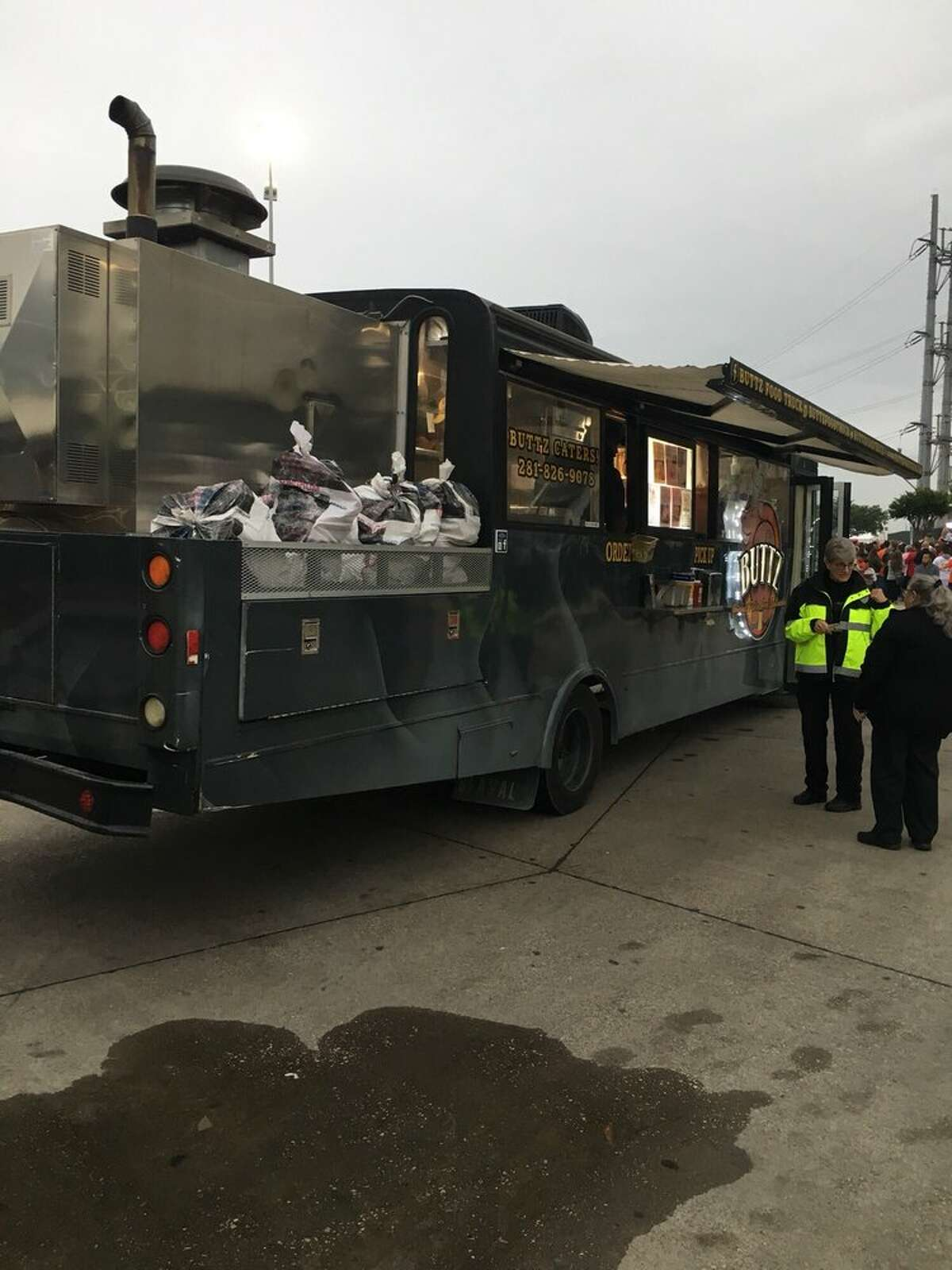 Buttz Food Truck 3515 Eastex Freeway  Demerits: 29Inspection highlights: Refusal to comply with City of Houston food ordinance and kicked inspector out of his mobile food unit. Unable to check food temperature and unable to continue inspection.