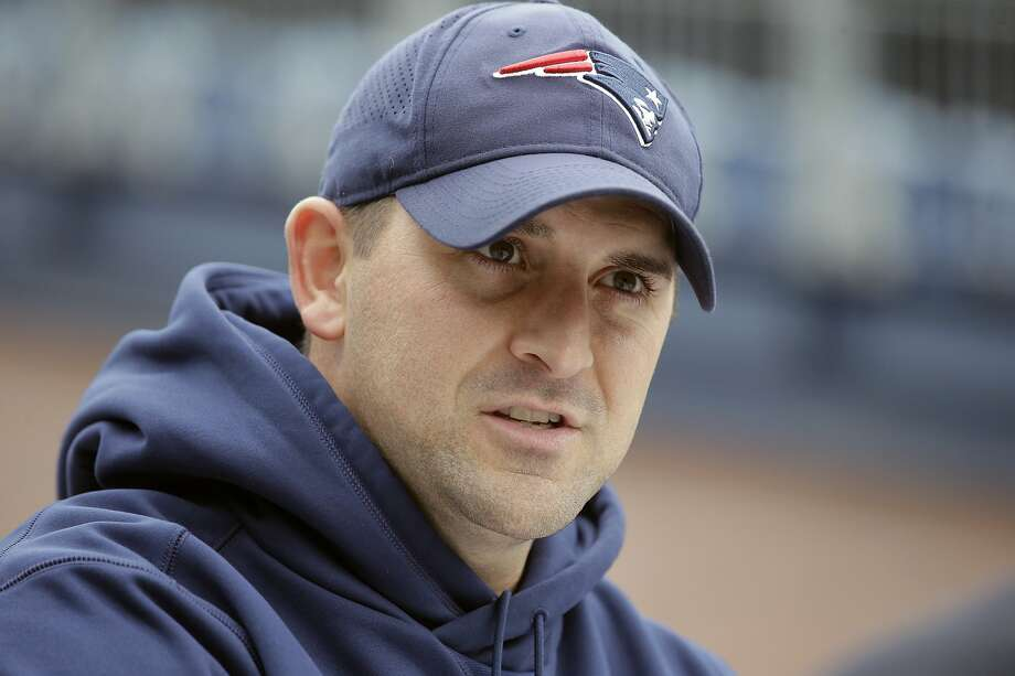 FILE - In this Nov. 1, 2018, file photo, New England Patriots special teams coach Joe Judge speaks with reporters before an NFL football practice in Foxborough, Mass. The New York Giants and Patriots assistant Joe Judge are working on a deal for him to become the team's head coach, a person familiar with the negotiations told The Associated Press The person spoke to the on condition of anonymity Tuesday, Jan. 7, 2020, because the deal is not done. (AP Photo/Steven Senne, File) Photo: Steven Senne, Associated Press
