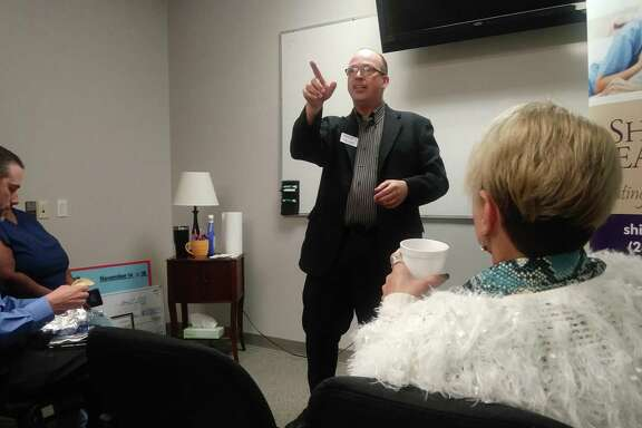 Shield Bearer Executive Director Thad Cardine spoke about the need for donations and plethora of serviced offered by the nonprofit counseling organization.