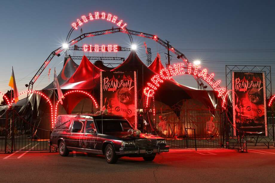 A thrilling, over-the-top show is coming to San Antonio for the first time later this month, bringing its red-and-black Clown Castle tent that is filled with acrobats, illusionists and freaks. Photo: Todd Kaplan