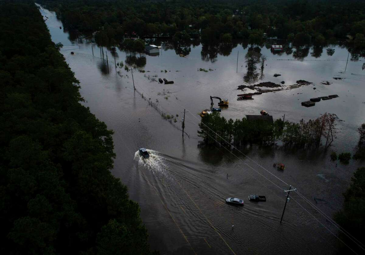 Flooding from the remnants of Tropical Depression Imelda continues in Southeast Texas on Friday, Sept. 20, 2019, in Mauriceville