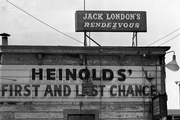 Heinhold's First and Last Chance saloon at Jack London Square, in Oakland, April 24. 1952