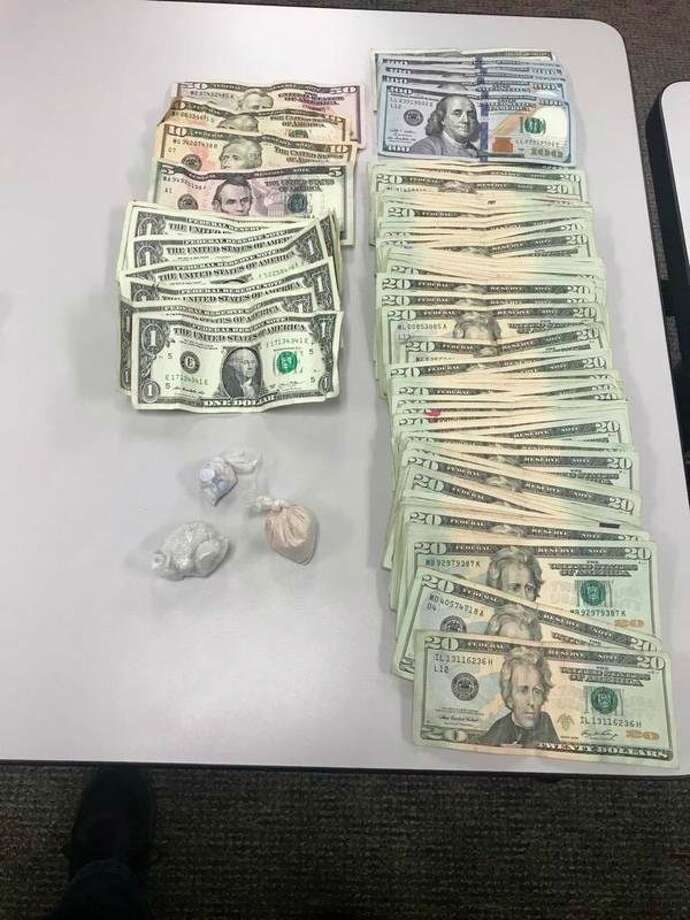 Police found fentanyl, methamphetamine and $2,300in a vehicle on Monday morning during a drug bust. Two men were arrested for multiple charges. (Courtesy photo/Manistee County Sheriff's Office)