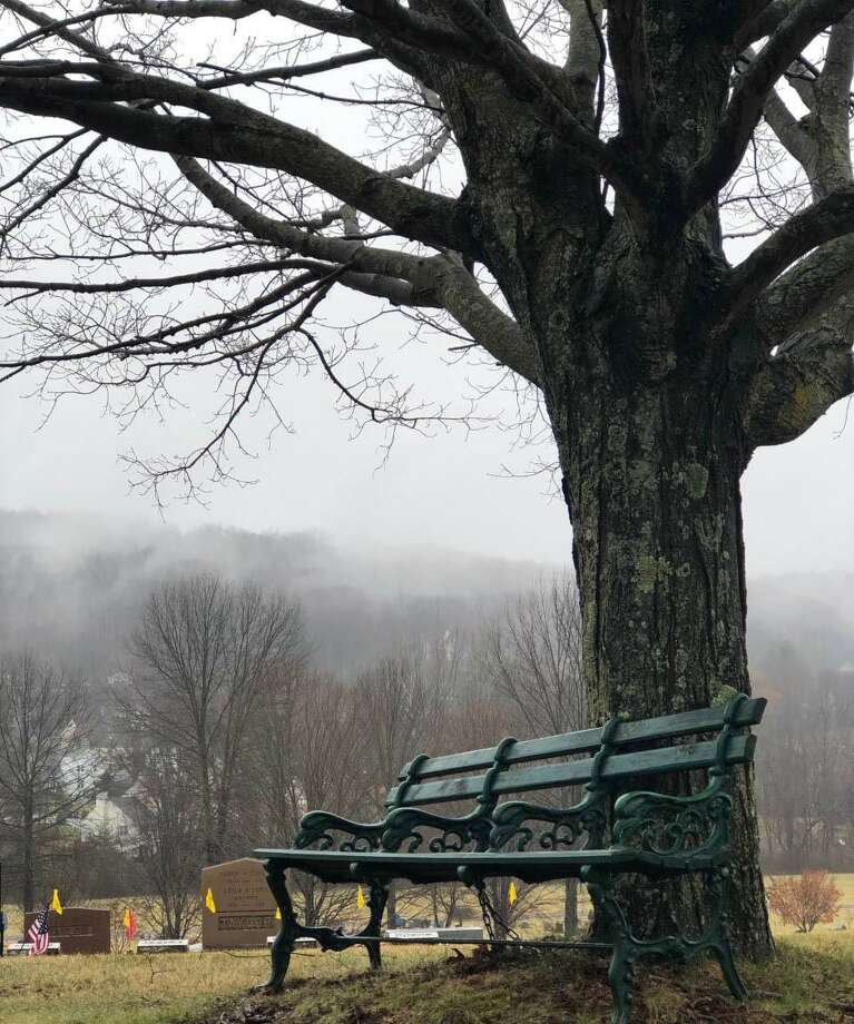 Visitors of Center Cemetery can find a quiet place to reflect. Photo: Deborah Rose / Hearst Connecticut Media / The News-Times  / Spectrum