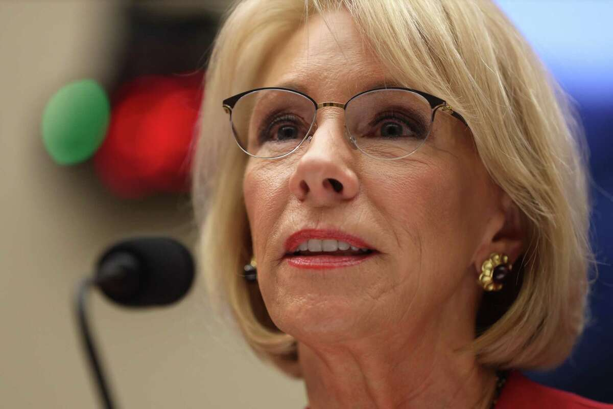 WASHINGTON, DC - DECEMBER 12: U.S. Secretary of Education Betsy DeVos testifies during a hearing before House Education and Labor Committee December 12, 2019 on Capitol Hill in Washington, DC. The committee held a hearing on