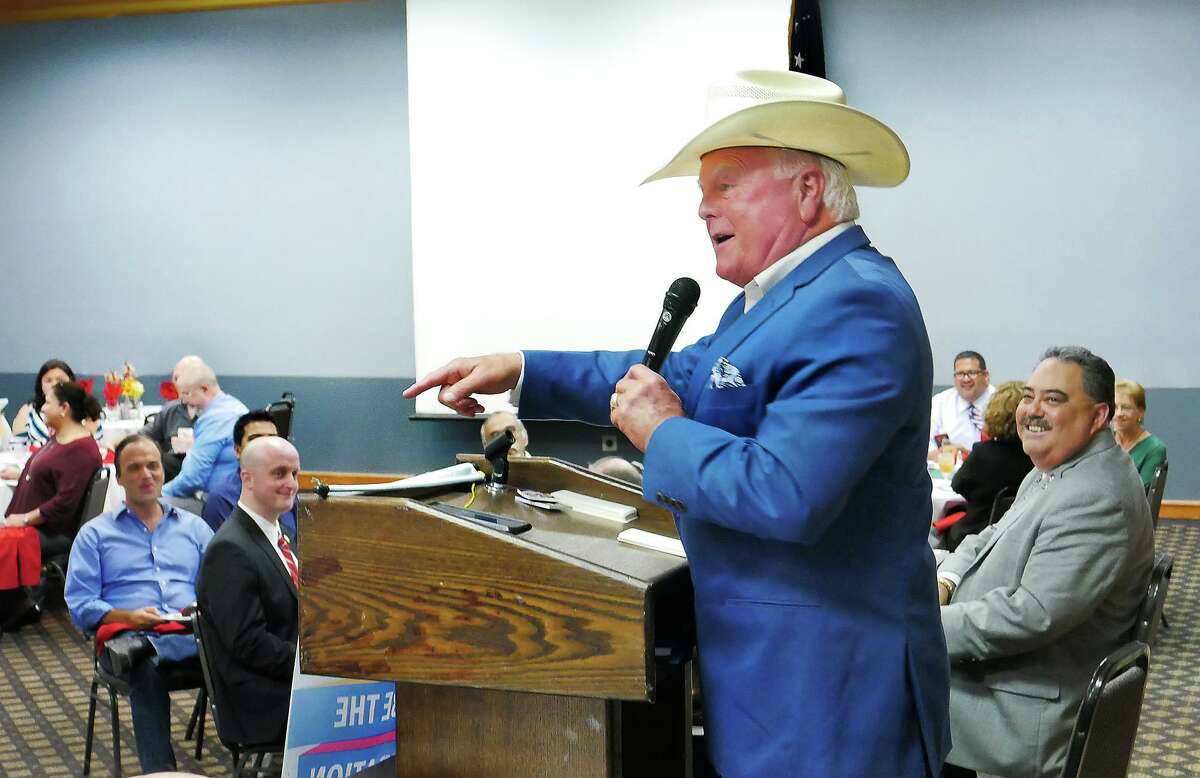 Texas Agricultural Commissioner, Sid Miller was the guest speaker at the weekly meeting of The Laredo Rotary Club, at the Ava Hotel, Wednesday, September 5, 2018.