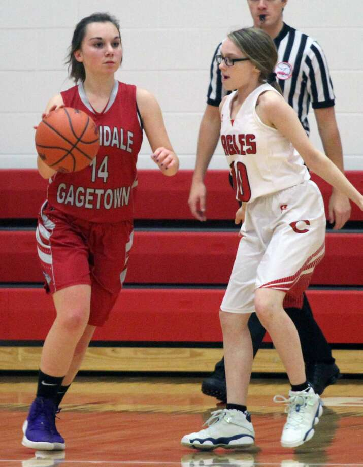 The Caseville boys and girls basketball teams picked up victories over Owendale-Gagetown at home on Tuesday, Jan. 7. Photo: Eric Rutter/Huron Daily Tribune
