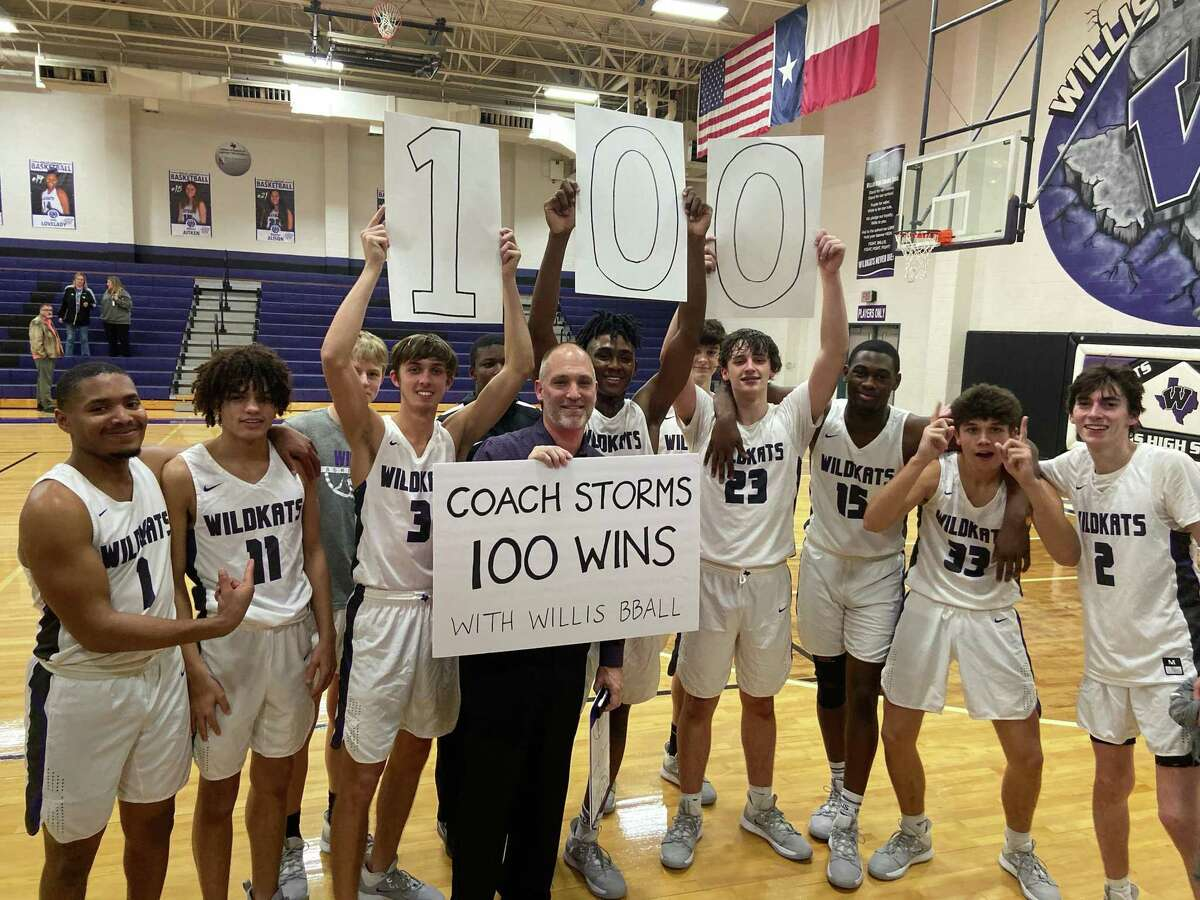 Willis boys basketball coach Michael Storms won game No. 100 in his career Tuesday night against Kingwood Park.