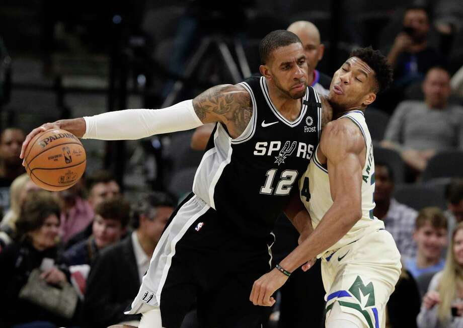 Spurs forward LaMarcus Aldridge has made 34 3s this year and is only three away from tying his career high of 37, which he hit in 2014-15 while playing in 71 games. Photo: Eric Gay /Associated Press / Copyright 2019 The Associated Press. All rights reserved.