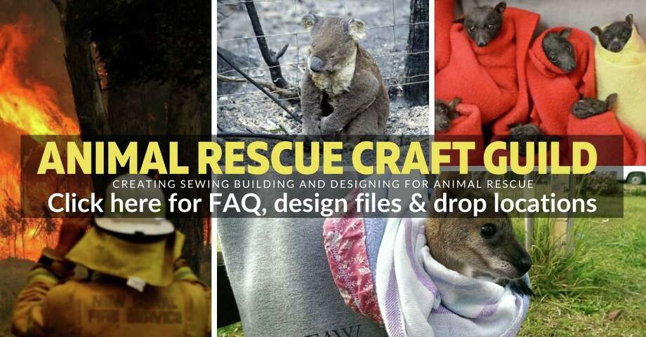 A Facebook group, the Animal Rescue Craft Guild, is one of the many organizations helping the rescued animals in Australia. Photo: Animal Rescue Craft Guild / Contributed Photo