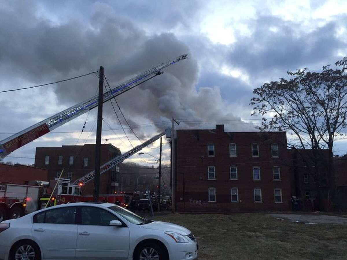 Firefighters battled a fire Wednesday inside an apartment building on Jay Street. Residents were able to escape.
