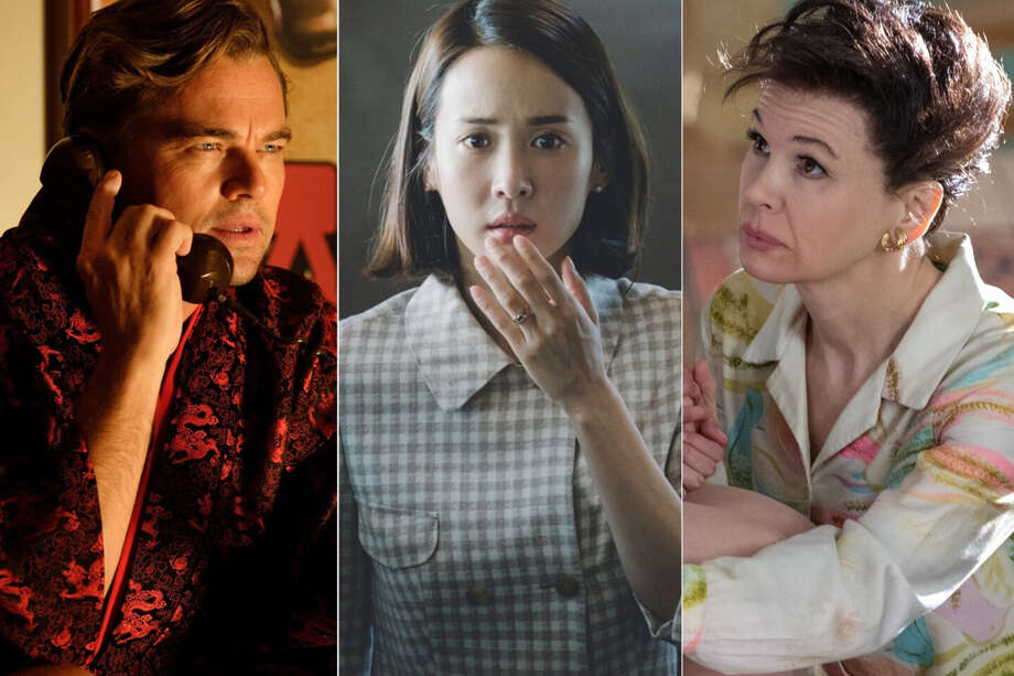 "(L-r) Leonardo DiCaprio in ""Once Upon a Time ... in Hollywood,"" Cho Yeo Jeong in ""Parasite"" and Renée Zellweger in ""Judy."" Photo: Andrew Cooper/Sony Pictures Entertainment; NEON/CJ Entertainment; David Hindley/LD Entertainment/Roadside Attractions / Andrew Cooper/Sony Pictures Entertainment; NEON/CJ Entertainment; David Hindley/LD Entertainment/Roadside Attractions"