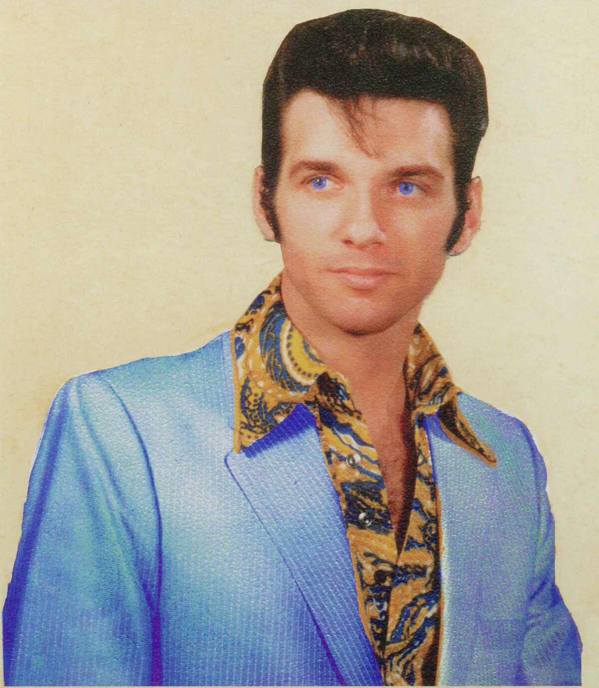 A publicity photo of Dino De Cherro circa 1976-77 that was later used on the sleeve of De Cherro's self-released single of 1977,