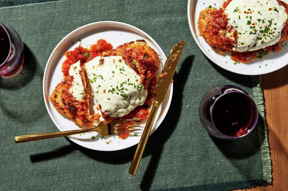 This spicy, streamlined chicken Parmesan is saucy and crispy in all the right ways