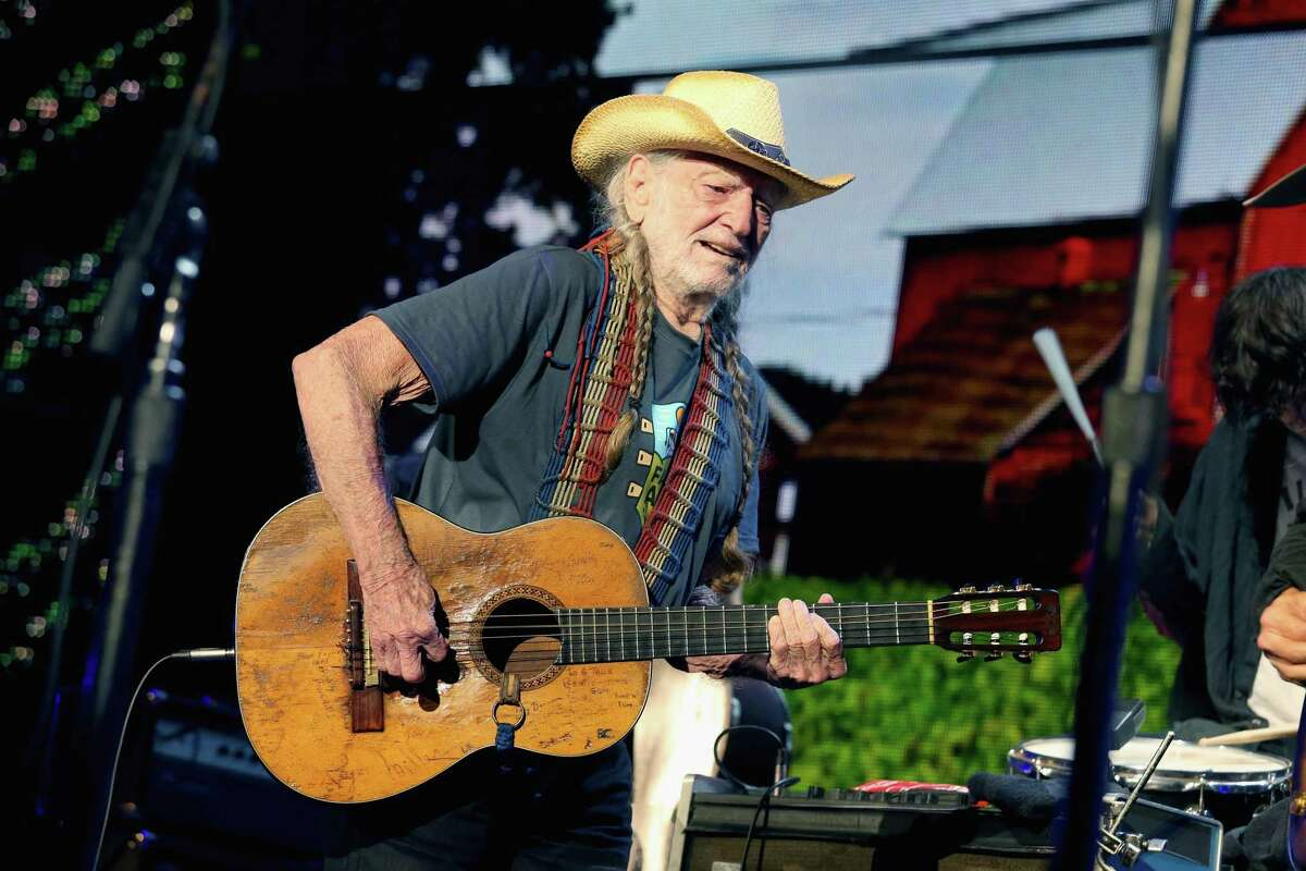 EAST TROY, WISCONSIN - SEPTEMBER 21: Willie Nelson performs in concert during Farm Aid 34 at Alpine Valley Music Theatre on September 21, 2019 in East Troy, Wisconsin.