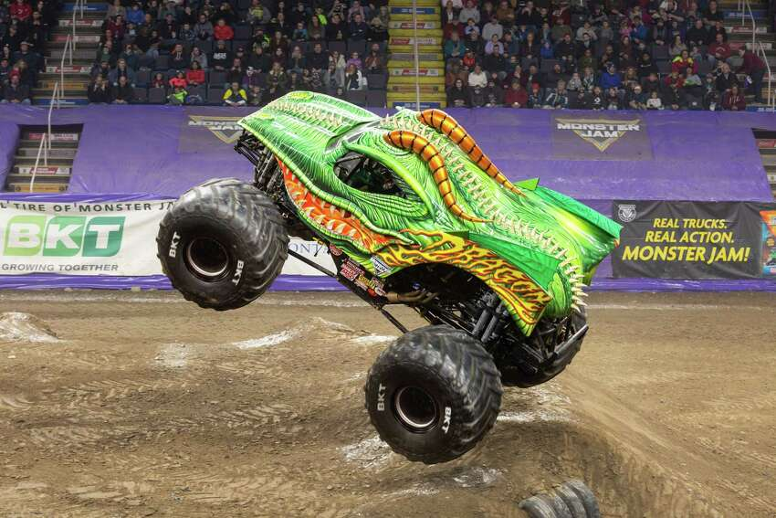 Monster truck driver Darren Migues will be driving the Dragon