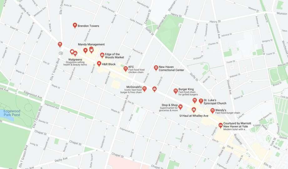 Whalley Avenue near Howe Street Photo: Google Maps