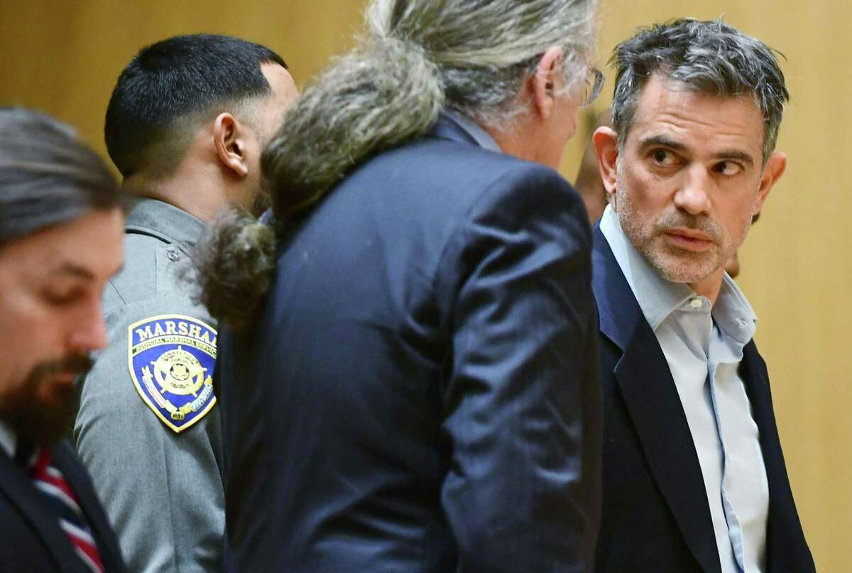 File photo of Fotis Dulos in Stamford Superior Court on Wednesday, Jan. 8, 2020.