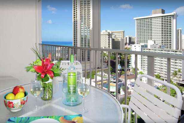 This Waikiki condo that goes for $169 per night in February is located in the resort zone so is exempt from Honolulu's local registration laws.