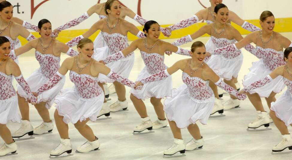 1) What is synchronized skating? Synchronized skating is a growing sport where teams of 8 to 20 figure skaters perform choreographed moves together. Members of the US team perform their free programme at the ISU World Synchronized Skating Championships in Papp Laszlo Sports Arena in Budapest, Hungary, March 29, 2008. (AP Photos/MTI, Szilard Koszticsak)