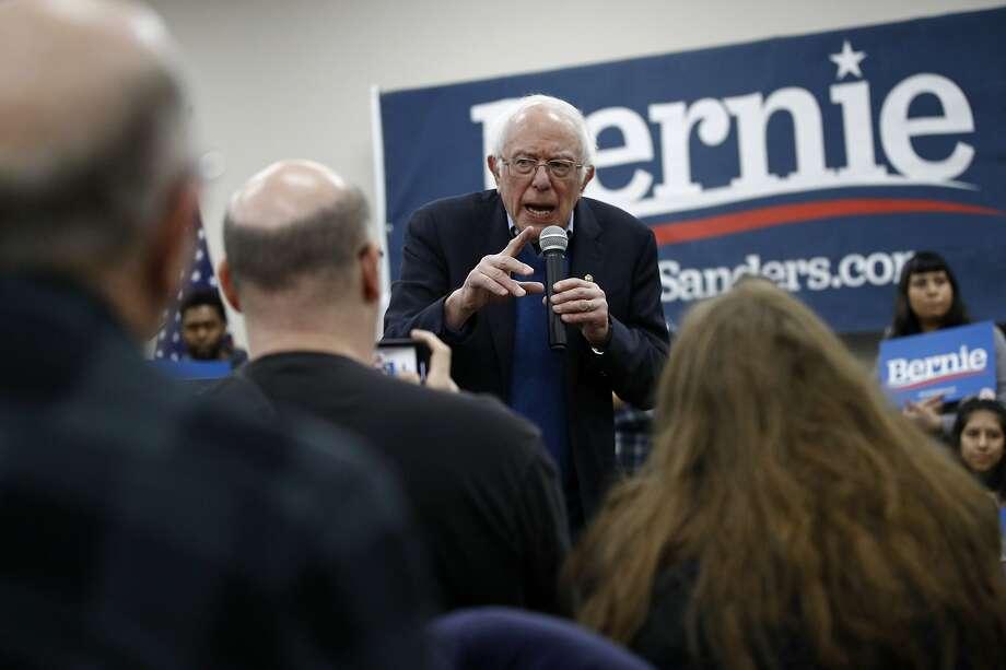 Democratic presidential candidate Sen. Bernie Sanders, I-Vt., speaks during a campaign event, Sunday, Jan. 5, 2020, in Boone, Iowa. (AP Photo/Patrick Semansky) Photo: Patrick Semansky, Associated Press
