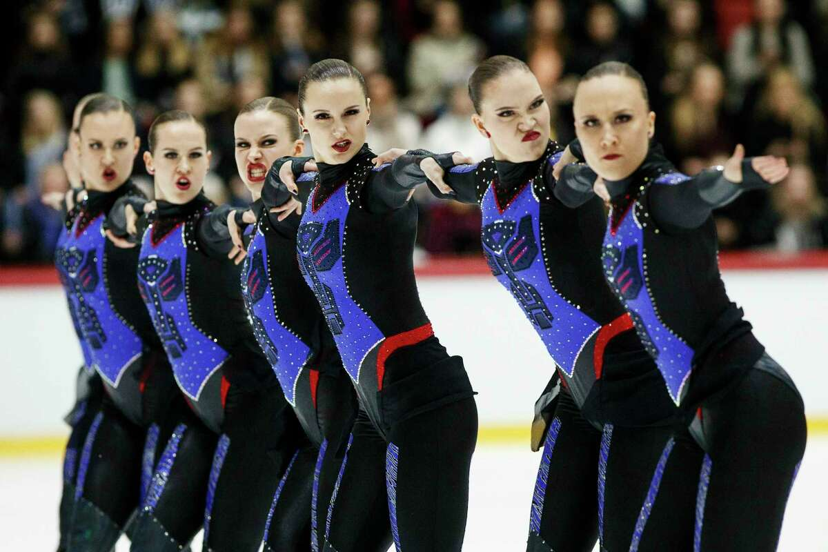 Click through the slideshow to find out five things you should know about synchronized skating. Team Marigold Ice Unity from Finland perform their free skating to finish second in the ISU World Synchronized Skating Championships 2019 in Helsinki, Finland, Saturday, April 13, 2019.