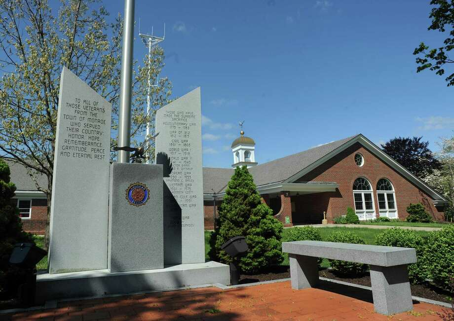 veteran memorial in front of Monroe Town Hall Offices. 7 Fan Hill Road in Monroe, Conn. Photo: Cathy Zuraw / Cathy Zuraw / Connecticut Post